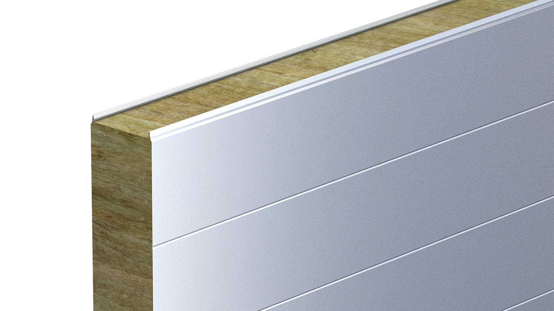 Billede 3 - Skab designet med Lindab Sandwichpaneler  som fås med forskellige designlinjer og i mange farver
