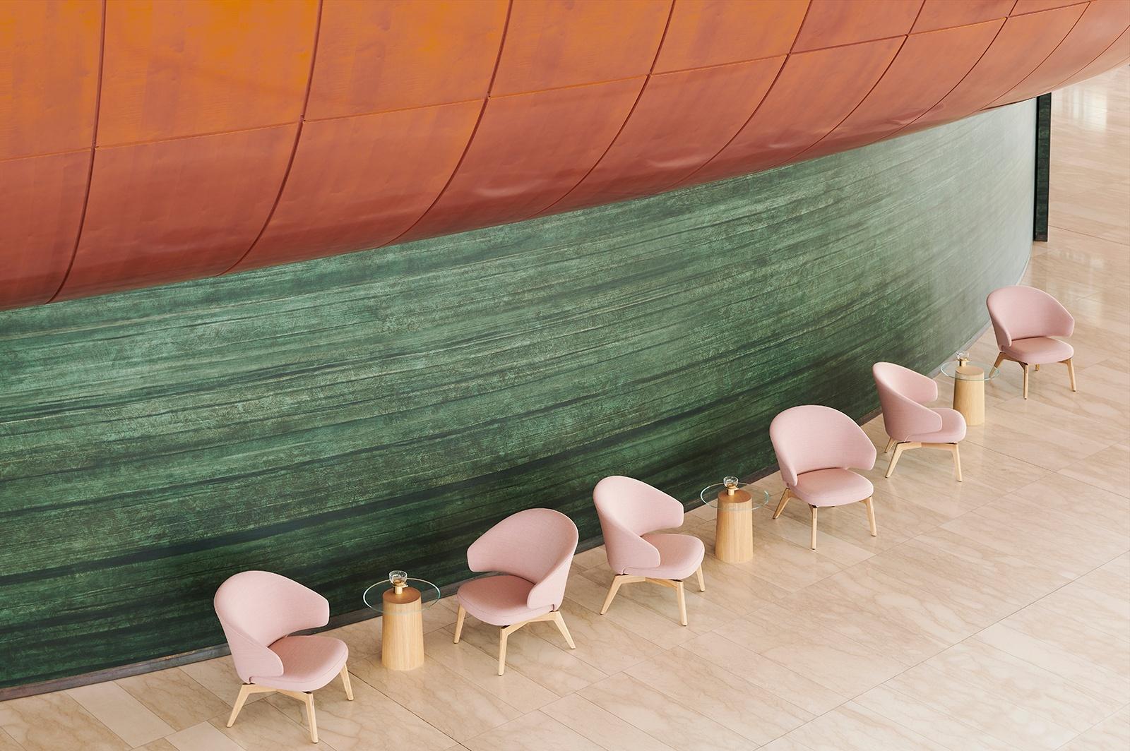 2 LET lænestol i lakeret egetræ (c) Fritz Hansen