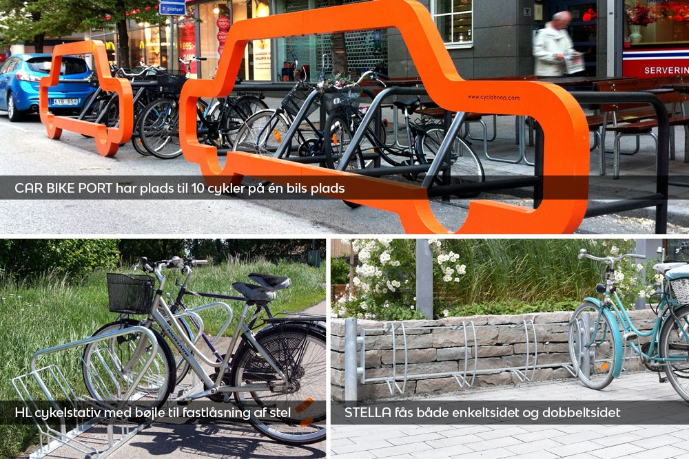 3-cykelstativer