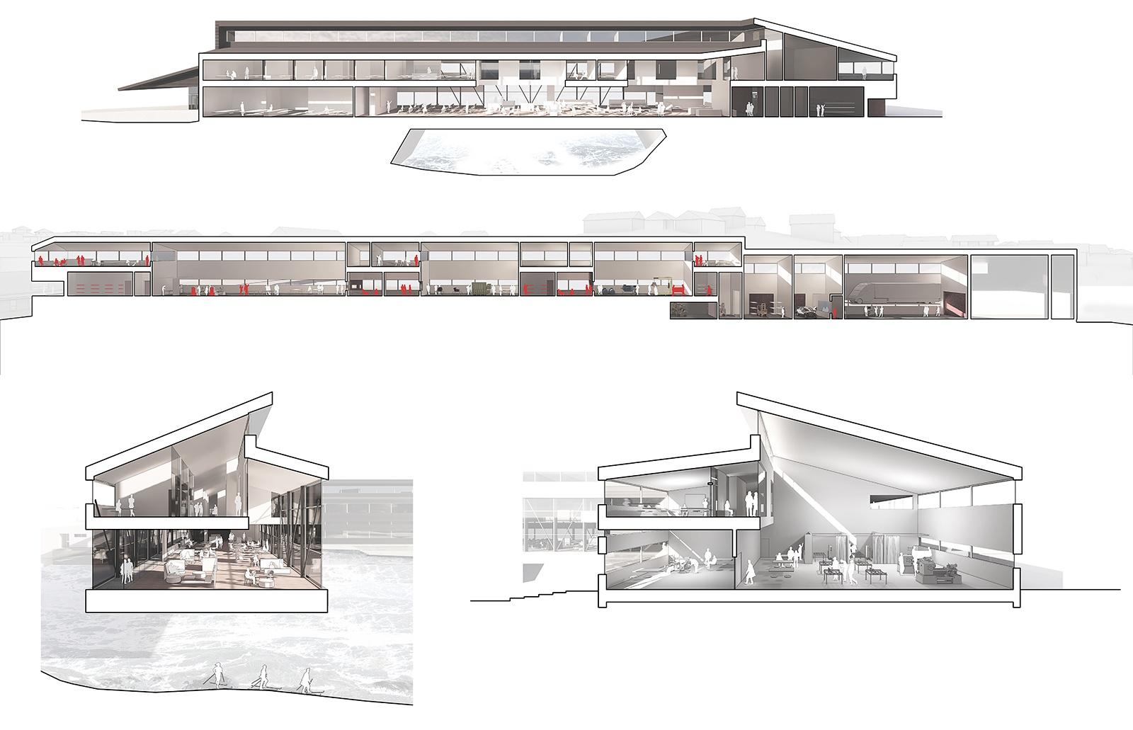 Snitperspektiver af Jern og Metalskolen i 1-50_1600