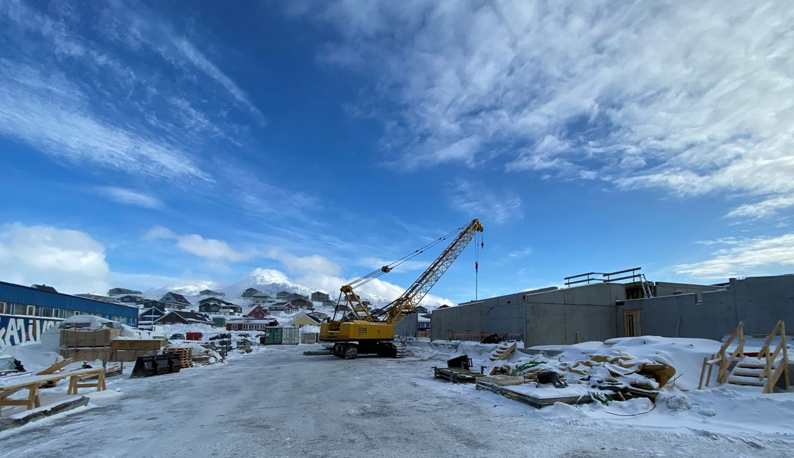 Nuuk skole byggeplads